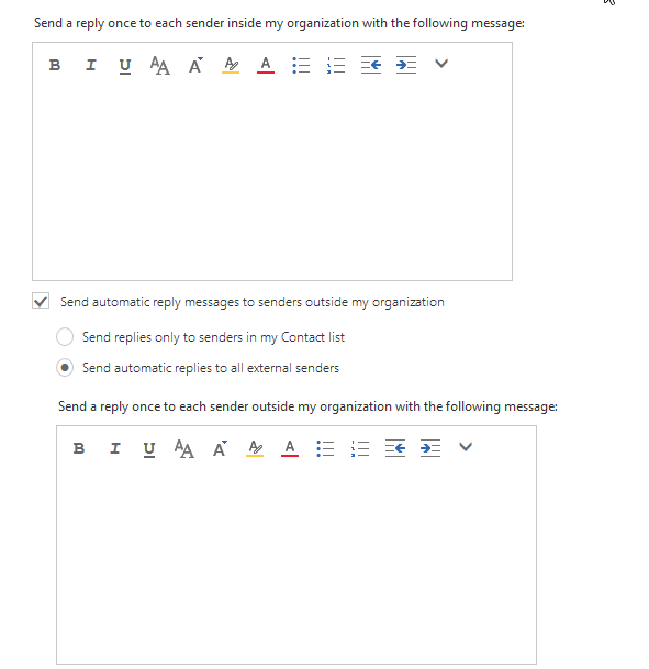 Outlook Web Access Automatic Replies Outside Organization